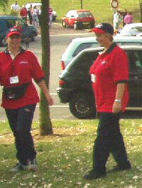 Kate & Jackie at the WC2003 without their measuring tapes