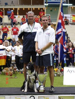 David on the Podium at WC2005