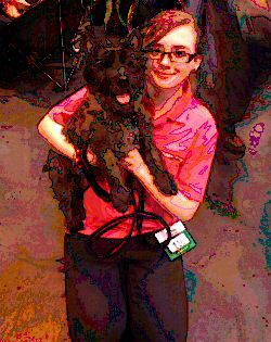 Megan and Alfie at Crufts last year